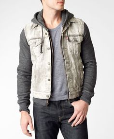 Levi's Trucker Vest - Light Wash    $78.00