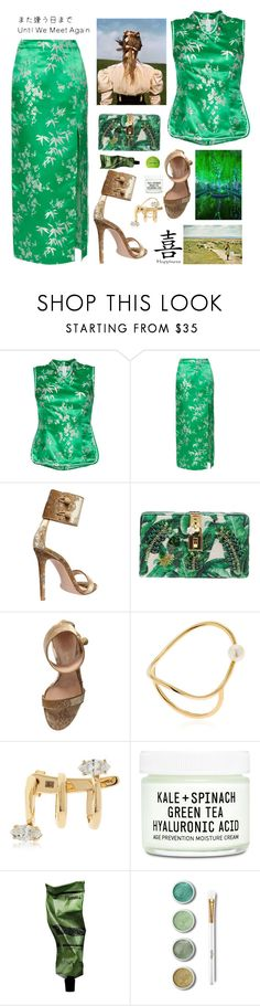 """The Silk Road"" by sue-mes ❤ liked on Polyvore featuring Attico, Gianvito Rossi, Dolce&Gabbana, Anissa Kermiche, Bea Bongiasca, Youth To The People, Aesop, Terre Mère and Sephora Collection"