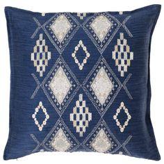 portico indigo twill 20 embroidered pillow bandero office desk 100