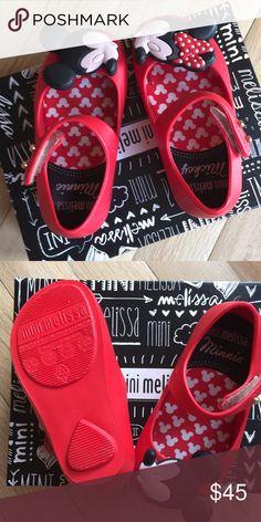 Mini Melissa Red ultragirl Disney Mickey Minnie Mini Melissa Red ultragirl Disney Mickey Minnie Mary Janes size 6. New in box Mini Melissa Shoes Dress Shoes
