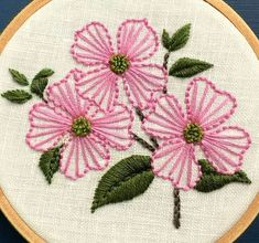 Basic Embroidery Stitches, Floral Embroidery Patterns, Hand Embroidery Videos, Embroidery Flowers Pattern, Embroidery Works, Creative Embroidery, Hand Embroidery Designs, Embroidery Techniques, Ribbon Embroidery