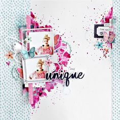"""Hey there Lovelies,today I'm here with a bright, fun Cocoa Vanilla """"Happiness"""" collection page to share with you! I've decided to scr. Kids Scrapbook, Scrapbooking Layouts, Scrapbook Pages, Scrapbook Designs, Mix Media, Multi Photo, Clear Stickers, Paper Crafts, Diy Crafts"""
