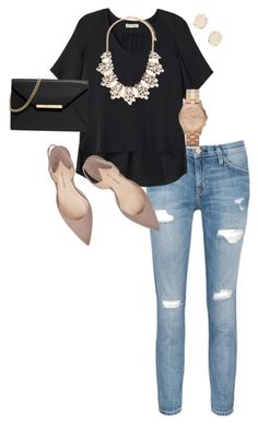 """Untitled #146"" by cbradleyscorp on Polyvore featuring Current/Elliott, Rebecca Taylor, Paul Andrew, Kendra Scott, Forever 21, Marc by Marc Jacobs and MICHAEL Michael Kors"