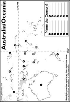 activity using a supporting map to strengthen spatial awareness, their ability to locate, knowledge of neighbouring countries and where Australia is in relation to other places. World Geography Lessons, Teaching Geography, Geography Map Quiz, 7th Grade Social Studies, Teaching Social Studies, History Teachers, History Education, Teaching History, Map Skills
