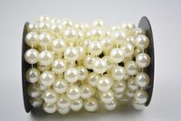 14mm ivory pearl String / Garland for festival decor accessories 5yards / roll  -Free shipping Pearl Garland, Ivory Pearl, Decorative Accessories, Party Supplies, Beaded Bracelets, Free Shipping, Pearls, Gold, Shopping