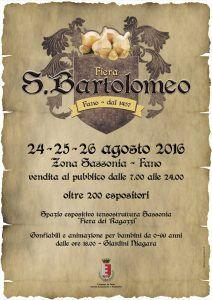 Si sta svolgendo in questi giorni l'inimitabile fiera di San Bartolomeo…
