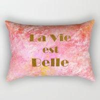 la vie est belle! Rectangular Pillow