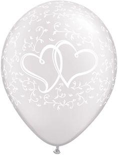 Ballonger Hearts HvitLatex 5-pk. Heliumkvalitet.Størrelse:Ca. 27cm når de er oppblåst.