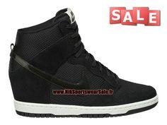 Nike Wmns Dunk Sky Hi Essential - Chaussure Montante Nike Pas Cher Pour Femme/Fille Noir/Blanc voile 644877-001