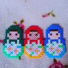 Matryoshkas perler beads by nahmon.15