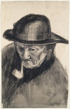 Head of a Fisherman with a Sou'wester, 1883, Vincent van Gogh, Van Gogh Museum, Amsterdam (Vincent van Gogh Foundation)