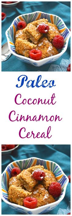 Pure and Simple Nourishment : Coconut Cinnamon Cereal and Paleo Eats Cookbook Re Gluten Free Recipes For Breakfast, Gluten Free Breakfasts, Paleo Breakfast, Brunch Recipes, Paleo Recipes, Real Food Recipes, Paleo Meals, Breakfast Time, Dessert Recipes