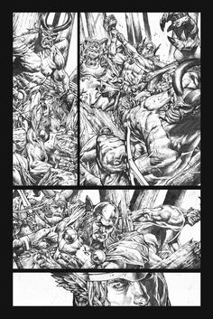 Rage Of Thor page 2 grayscale by Mico Suayan