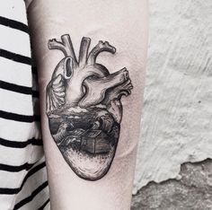 heart tattoo black ink Caitlin Thomas.