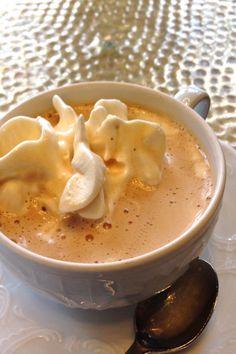 Fancy Austrian coffee in Vienna-- unsweetened cream on top is de rigeur!