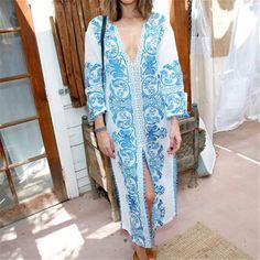 Chiffon Beachwear With Flower Print | Zorket