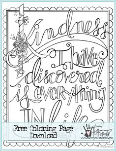 Choose kindness above all else Annie 39 s Coloring Pages on