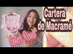 YouTube como hacer una cartera de macrame, macrame, macrame paso a paso Macrame Wall Hanging Patterns, Macrame Patterns, Macrame Bag, Macrame Knots, Fun Crafts, Diy And Crafts, Macrame Projects, Macrame Tutorial, Crochet Handbags