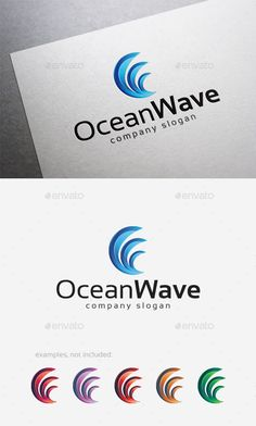 Ocean Wave Logo — Vector EPS #creative #natural • Available here → https://graphicriver.net/item/ocean-wave-logo/10124518?ref=pxcr