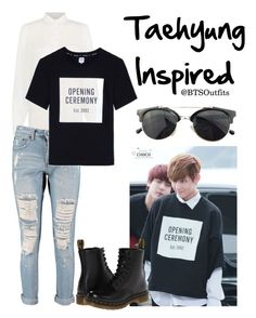 Taehyung Inspired by btsoutfits on Polyvore featuring moda, Boohoo, Dr. Martens, Chicnova Fashion and Opening Ceremony