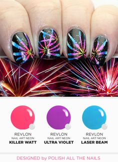 Fireworks manicure - Polish All the Nails Nail Art Tutorial for Revlon