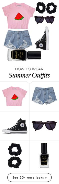 """""""No Problems!"""" by mia-lepez on Polyvore featuring Converse, Sonia Rykiel, Barry M and Accessorize"""
