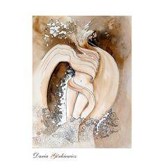 BOSKI WIATR - GRAFIKA DARIA GÓRKIEWICZ . RYSUNKI I GRAFIKI Autorska grafika. Art Oil, Mixed Media, Waves, Ocean Waves, Oil On Canvas, Mixed Media Art, Beach Waves, Wave