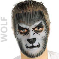 wolf face paint #GISHWHE