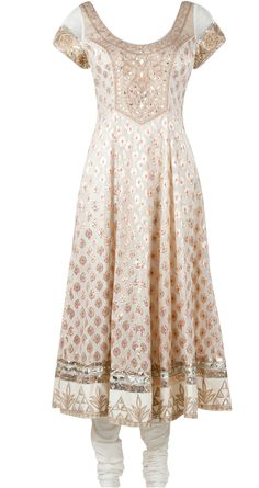 Cream embroidered anarkali by ANITA DONGRE. http://www.perniaspopupshop.com/whats-new/anita-dongre-cream-embroidered-anarkali-adc1013c812.html