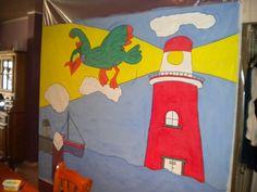 Decor Zee/Haven Gemaakt voor toneel kinderopvang