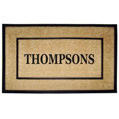 enterprises heavy duty coir single picture frame door mat (24 in