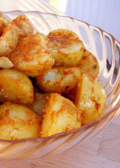 Mojo Potatoes. Piquantly spicy Mojo Picón poured over wrinkled potatoes for this traditional Canaries dish.