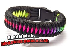 Rainbow Dragon's Teeth und Tutorial | Swiss Paracord
