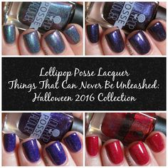Lavish Layerings - Lollipop Posse Lacquer Halloween 2016