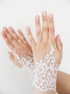 Ücretsiz nakliye, Düğün Eldiven, fildişi dantel eldiven, parmaksız eldivenler, fildişi gelinlik, kapalı manşet, manşet düğün gelin, gelin eldiven,