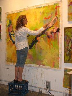Me working in my studio
