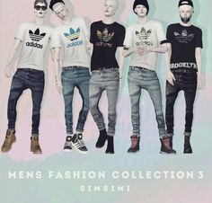 MENS FASHION COLLECTION 3 by SIMSIMI  - Sims 3 Downloads CC Caboodle