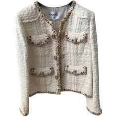 3a6d174769bb Vestes Chanel Chanel Cuba 2017 Coton,Tweed Crème ref.76631 - Joli Closet