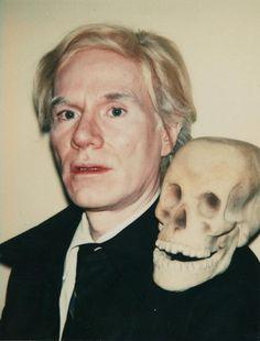 Andy Warhol. Self-Portraits with Skull, 1977. Polaroids, 108 x 86 mm. in Andy Warhol, polaroids : celebrities and self-portraits / essay by Francesco Clemente. -- Köln : R. Jablonka ; Kraków, Poland : A. Starmach ; New York : D.A.P./Distributed Art Publishers, c2000. Call Number: ND237 W27.5 J23 2000