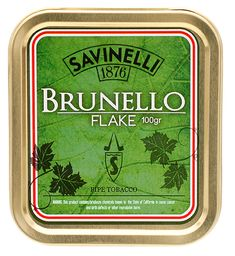 Savinelli Brunello Flake 100g Tobaccos at Smoking Pipes .com