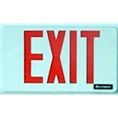 Progress Lighting Thermoplastic LED Emergency/Exit Sign with Red Letters - The Home Depot Emergency Exit Signs, Emergency Lighting, Covert Cameras, Video Surveillance Cameras, Home Camera, Spy Camera, Green Led, Progress Lighting