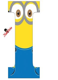 Typography - Minion Alphabet - Letter I Minion Birthday Banner, Minion Theme, Minion Party, My Minion, Twin First Birthday, Birthday Themes For Boys, Minion Craft, Alphabet And Numbers, Minion Centerpieces