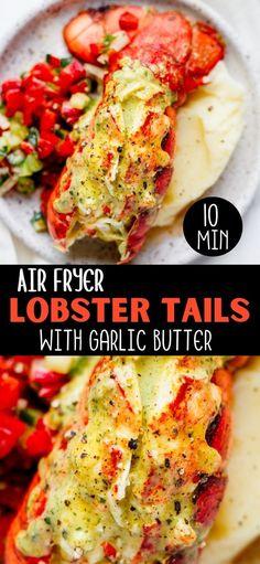 Air Fryer Recipes Chicken Breast, New Air Fryer Recipes, Air Frier Recipes, Air Fryer Dinner Recipes, Lobster Tail Recipes, Cooking Lobster Tails, How To Cook Lobster, Fried Lobster, Cooking Channel Recipes