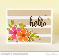 three umbrellas: MFT Flashy Florals Card Kit Release Day