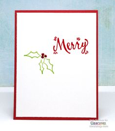 Christmas Cards DIY in 5 Minutes with Clearsnap® Pigment Inks, Jenn Shurkus