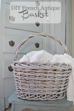 Make A Brown Basket Look Like A French Antique Basket