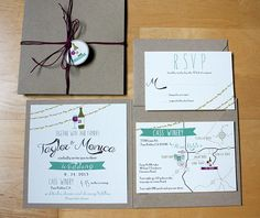 Winery Wedding Invitations - The City Hippy Studio