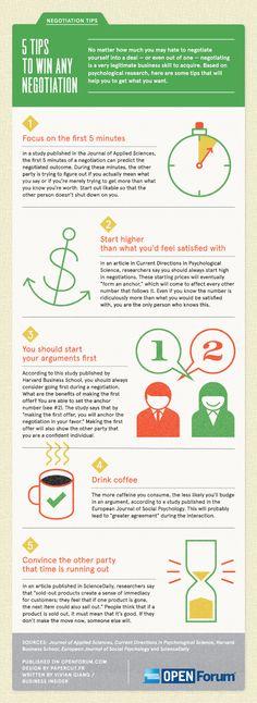 5 maneras de ganar cualquier negociación