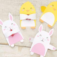 Printable Easter Bunny & Chick Candy Huggers – Kudzu Monster
