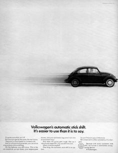 Volkswagen Automatic Bug 1968 Ad Picture